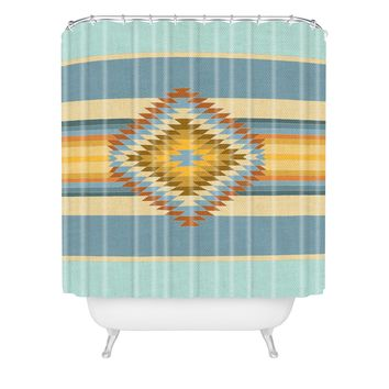 Bianca Green Fiesta Vintage Shower Curtain
