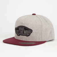 Vans Classic Patch Mens Snapback Hat Gray One Size For Men 26930211501