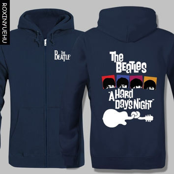 New the beatles Rock Band Hoodies  Hooded Coat  Zipper men cardigan Jacket Sweatshirt   KTT006