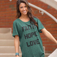 Cherished Girl Grace & Truth Faith Hope Love Girlie Christian Bright T Shirt