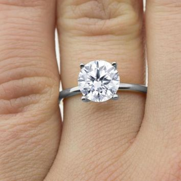 Certified 1.40 Ct. Diamond Engagement Ring in 14k Gold