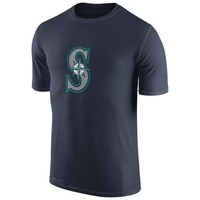 MLB  Seattle Mariners Collection Legend Logo 1.5 Performance T-Shirt Navy Short Sleeve MLB Baseball T-Shirts