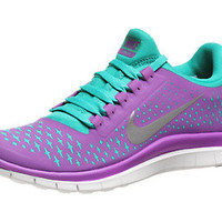 Nike Free 3.0 v4 Women's Shoes Purple/Silver/Teal