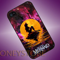 Disney The Moon Nebula Ariel The Little Mermaid - Photo Print for iPhone 4/4s, iPhone 5/5C, Samsung S3 i9300, Samsung S4 i9500 Hard Case