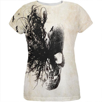 Dreaming Skull All Over Womens T Shirt