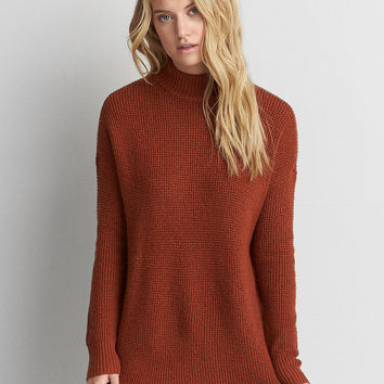 AEO Ahh-mazingly Soft Mock Neck Sweater, Rust