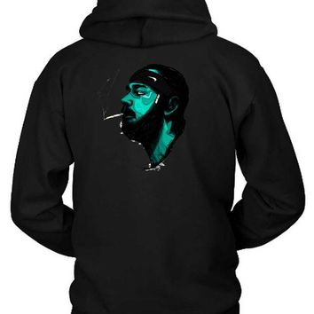 DCCKL83 Post Malone Smoke Hoodie Two Sided