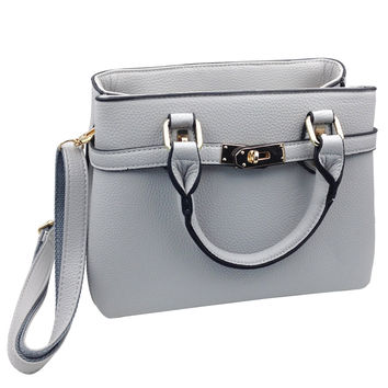 Practical double leather handbags