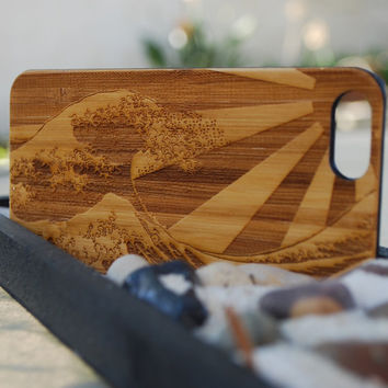 Custom Engraved Wave iPhone 6 Plus Case