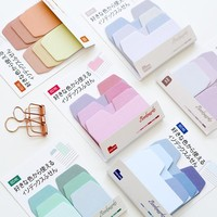 Gradient Color 60 Sheets Writeable Index Note Paper Sticky Notes Post It Stationery Office Accessory School Supplies