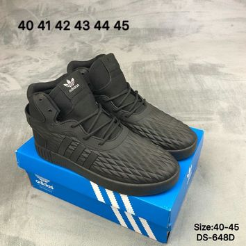 Adidas TUBULAR INVADER STRAP LOS ANGELES Men Women High-Top Fashion Casual Sports Skate Shoes Black/White 2 Colors