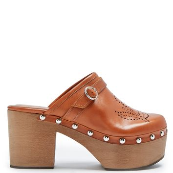 Perforated leather clogs | Alexachung | MATCHESFASHION.COM US