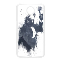 Wolf Song 3 White Hard Plastic Case for Google Nexus 6 by Balazs Solti