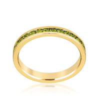 Stylish Stackables Olive Gold Ring, size : 05