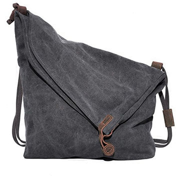 Unisex Hobo Bag Casual Canvas Crossbody Messenger Bag Shouder Bag