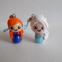 Disney Frozen Chibi Jewellery Anna and Elsa Phone Charm or Keyring