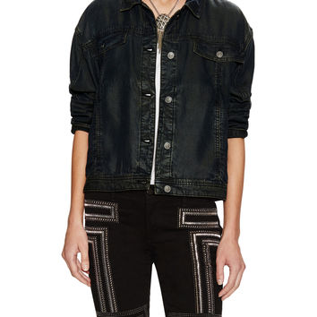 Free People Women's Denim Swing Jacket -