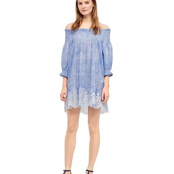 Tory Burch Ren Smocked Dress