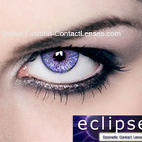 Eclipse Color Violet Contact Lenses - for a violet eye color