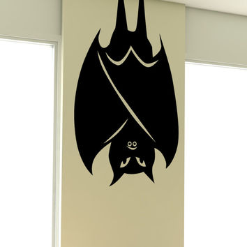 Vinyl Wall Decal Sticker Folded Wings Bat #5490