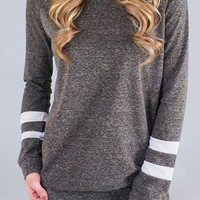 Casual Sleeve Striped T-shirt