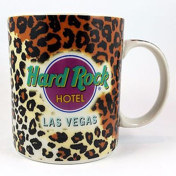 Hard Rock Hotel Las Vegas Coffee Mug Cup 10oz Leopard Print Herrington k373