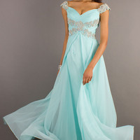 Floor Length Off-The-Shoulder Elegant Dress