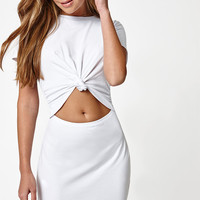LA Hearts Knot Front Cutout Dress at PacSun.com