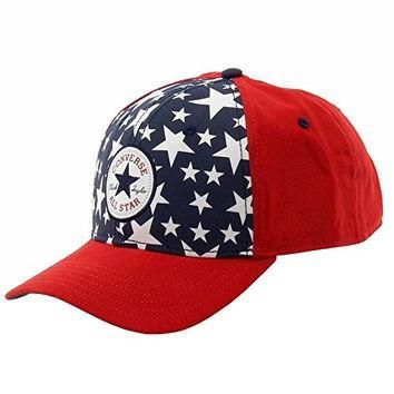 Converse All Star Men's Chuck Taylor Red Baseball Cap Hat (One Size Fits Most)