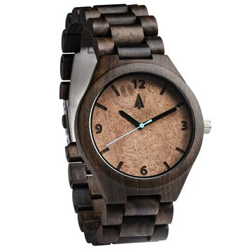 All Wood Watch // All Ebony Walnut Burl