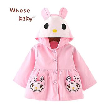 Newborn Clothing Baby Girl Coat 2017 Autumn Cute Bunny Infant Clothes For Children Baby Girls Fashion Clothing Hooded Outwear