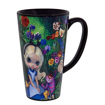 disney parks wonderground gallery alice & garden by becket ceramic coffee mug new