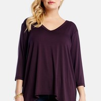 Plus Size Women's Karen Kane Contrast Back Tunic,