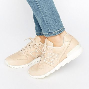 New Balance 996 Trainers In Nude Leather at asos.com