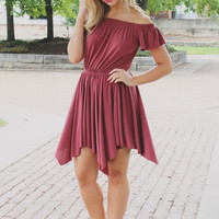 Send My Love Dress - Marsala