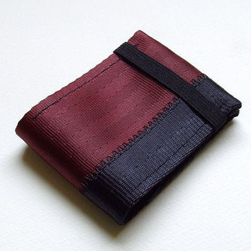 Minimalist credit card wallet with elastic  oxblood by retoolsf