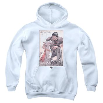 Superman - Mans Best Friend Youth Pull Over Hoodie
