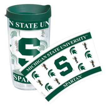 Michigan State Spartans Clear Wrap 16 oz. Tervis Tumbler
