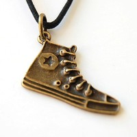Converse Necklace in free capsule. 80s Geek, Retro, Fun, Him, Her, Nerd, Dork, Cool