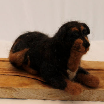 Tibetan Mastiff Needle Felted Tibetan Mastiff Dog