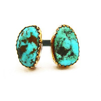 the Turquoise Orbit Ring II by 0RejoiceTheHands on Etsy