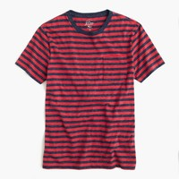 Heathered T-shirt in warm red stripe : Men stripes | J.Crew