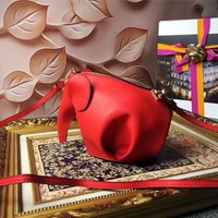 LOEWE ELEPHANT MINI LEATHER SHOULDER BAG
