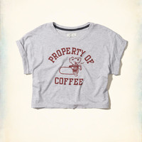 Gilly Hicks Crop Graphic Tee | Gilly Hicks Sleepwear & Lounge | HollisterCo.com