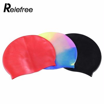 relefree Flexible Silicone Swimming Cap Swimming & Diving Gloves Stretch Waterproof Unisex Men/Women Durable