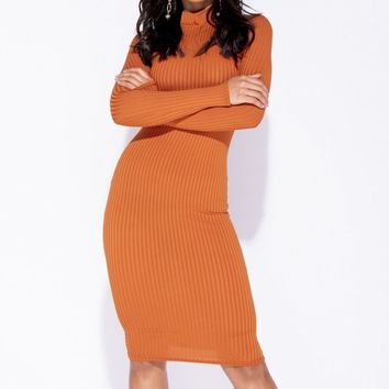 Give Me Body Ribbed Knit Midi Dress