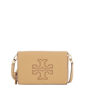 Tory Burch Harper Flat Wallet Crossbody Bag, Vintage Camel