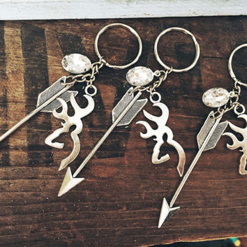 Arrows Jewels and Deer Heads Keychain