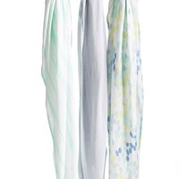 Infant Boy's aden + anais Print Swaddling Cloths - Grey (3-Pack) (Nordstrom Exclusive)
