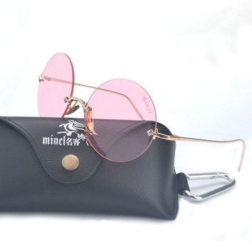 MINCL/2017 cat eyes women's sunglasses for women vintage sun glasses round women sun glasses oculos oculos de sol feminino LXL